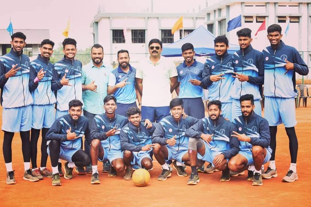 Joys John and George Joseph - Net Ball Winners at All India Inter University Championships, 2019